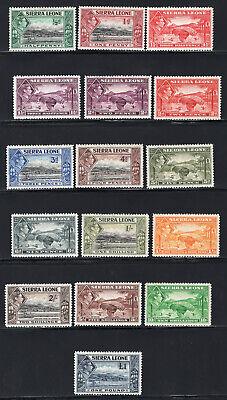 1938-44 Sierra Leone. SC#173-185. SG#188-200. Mint, Hinged/Lightly Hinged, VF.