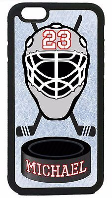 Ice Hockey Case Cover Personalized Number and Name iPhone X Xs Max XR 8 7 6 Plus Case Cover Ice