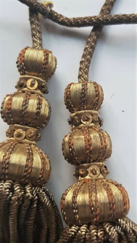 Vin. Vestment Tassels Decorative Dome Tops Rococo Thread Accents Spangles French