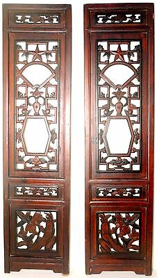 Antique Chinese Screen Panels (2578)(Pair), Cunninghamia Wood, Circa 1800-1849
