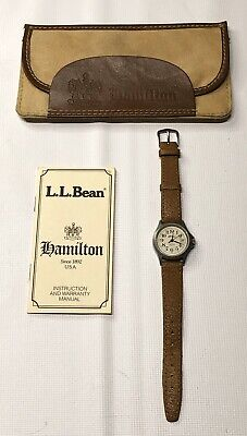 Hamilton L.L. Bean Montgomery 9771a Stainless Steel Leather Band Quartz Watch