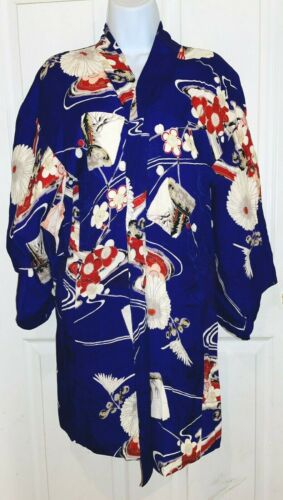 Silk Haori Jacket Vintage Japanese Woman