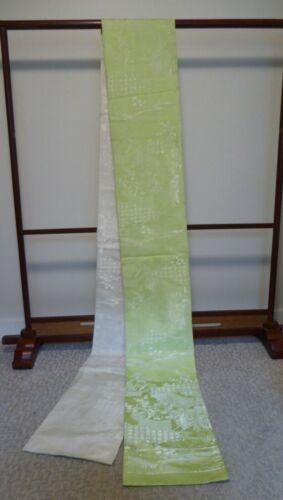 #5  Japanese Lime Green Kimono Obi, Pictorial