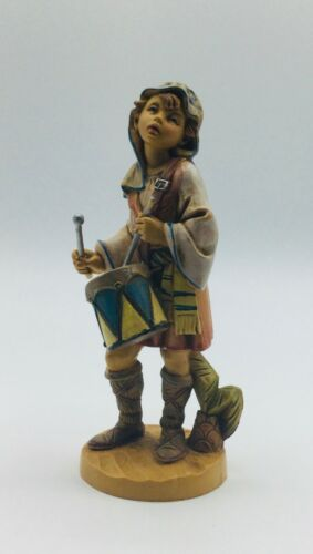 Vintage Fontanini Depose Italy 1989 Jareth Drummer Boy Nativity Figurine #437