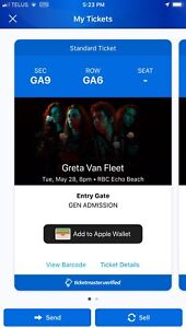 Greta Van Fleet concert ticket