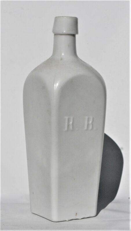 R. B. RUDOLPH BADER MILK GLASS BITTERS BOTTLE