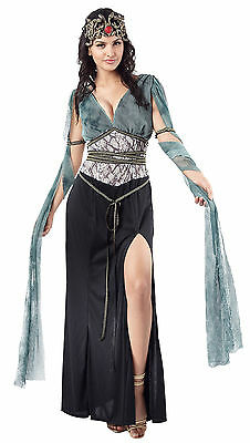 Medusa Halloween Costume Uk (Ladies Medusa Fancy Dress Costume Black & Green Womens Halloween Outfit UK)