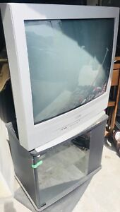 Large Sanyo TV and swivel stand