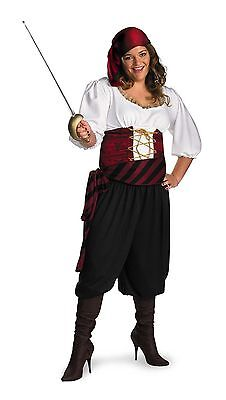 FIRST MATE PIRATE BUCCANEER ADULT HALLOWEEN COSTUME PLUS SIZE XX-LARGE (22-24)