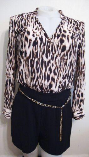 Jennifer Lopez Animal Print Dressy Romper Womens 6
