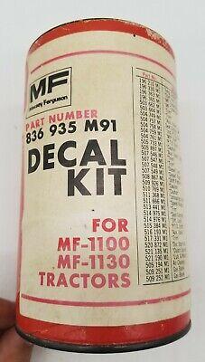 Vtg Nos Massey Ferguson Mf-1100 Mf-1130 Tractor Decal Emblem Kit 32 Of 36 Remain