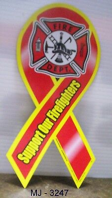 Support Our Firefighters Magnetic Ribbon