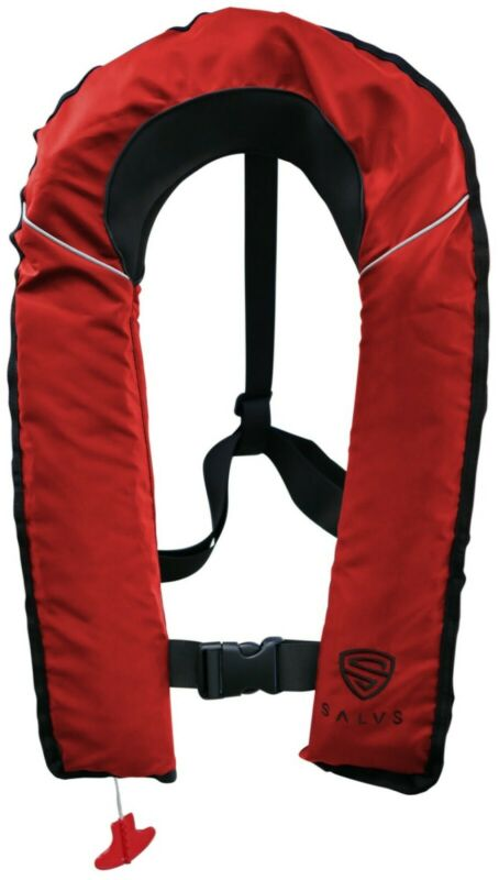 SALVS Automatic / Manual Inflatable Life Jacket for Adults | RED Life Vest