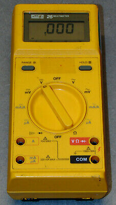 Fluke 25 Multimeter With Carry Case And Probes