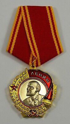 Order of Lenin Russian/Soviet/USSR Highest Award Service Medal with Ribbon