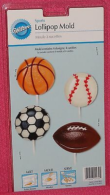 Sports,Balls,Chocolate Candy Lollipop Mold, Wilton,Clear (Chocolate Sports Balls)