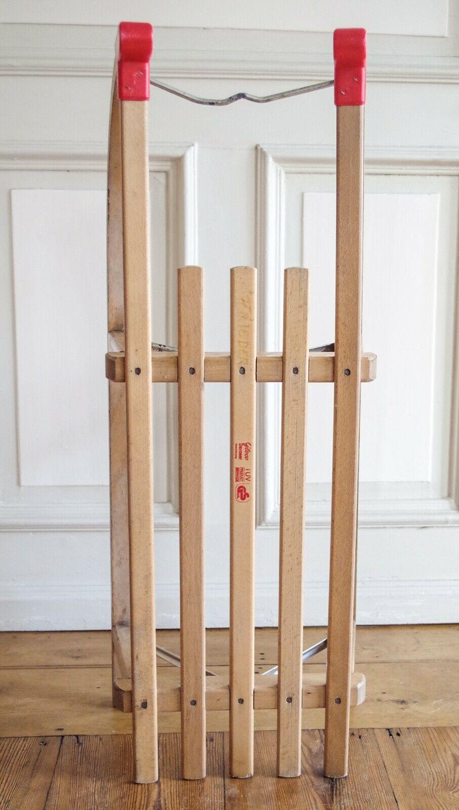 Holzschlitten GLOCO DAVOSER 90   Rodelschlitten Buche max. 150kg (2 Personen)