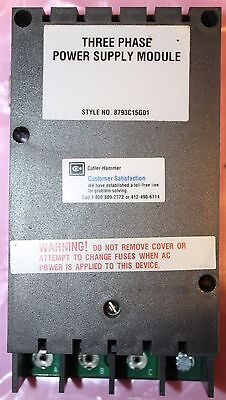 Cutler Hammer Three Phase Meter Relay Power Supply 8793c15g01