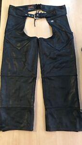 Harley Davidson Men's leather chaps size L