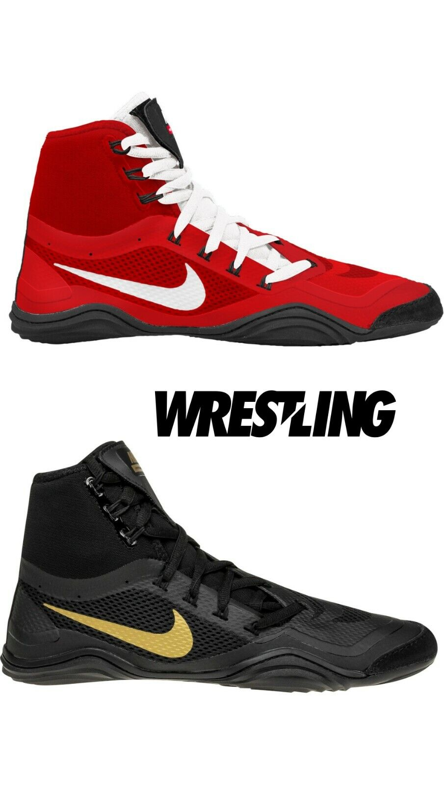 Nike Hypersweep Men/'s Wrestling Shoes Boxing MMA Combat Sports Shoes Boots Black