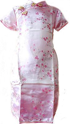 Asia Kinder Qipao/Geisha-Kostüm/Kleid Fasching/Cosplay Dress Rosa - Geisha Kleid Kind Kostüm