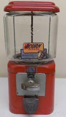 Oak Acorn 1cent Gumball Vending Machine