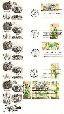 US SC # 1942-1945 And 1945a Desert Plants FDC. 5 Covers Set. artcraft Cachet