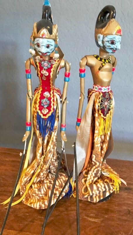 Indonesian Stick Puppet Dolls