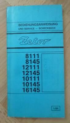 Zetor Traktoren 8111 8145 12111 12145 10111 10145 16145 Betriebsanleitung na sprzedaż  Wysyłka do Poland