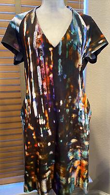 McQ Alexander McQueen Multicolor Print Dress Size L. P12718