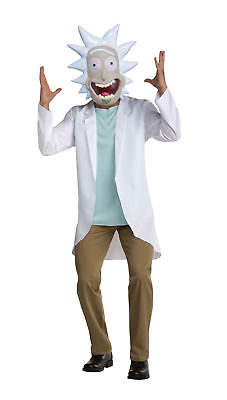 Rick Sanchez Adult Costume Rick And Morty TV Show Halloween Cosplay Coat Mask](Tv Show Halloween Costume)
