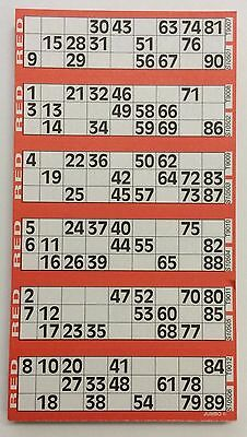 4500 Bingo tickets - 6 pads of 6 view   flyers -  125 sheets  per pad