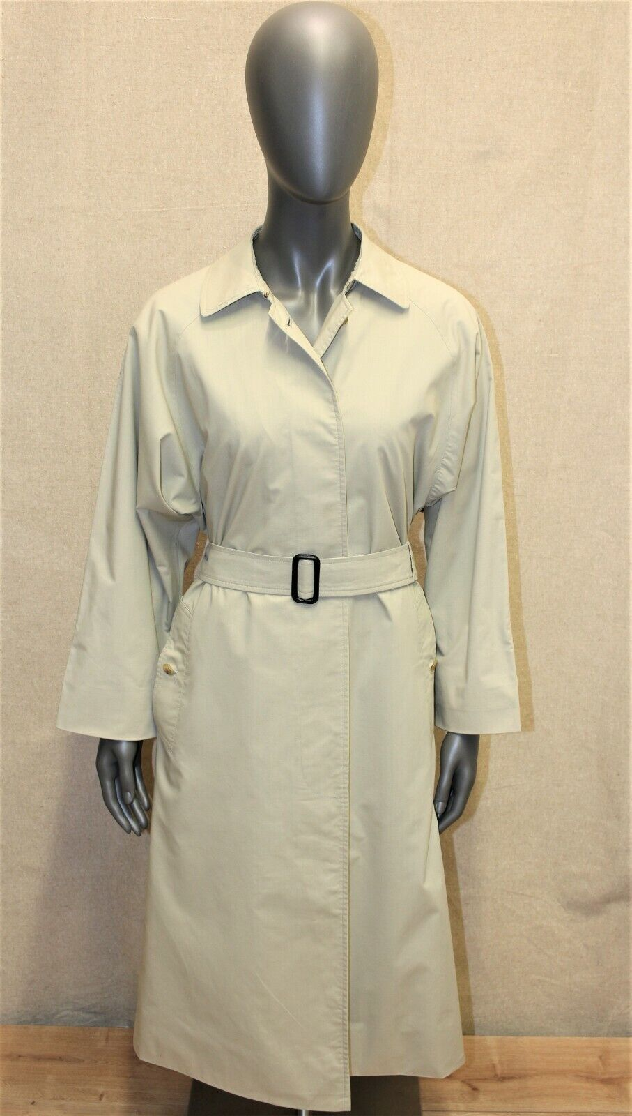 Trench imperméable femme burberry's vintage 80's beige 8 long made in england