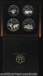 CANADA-5-x-2-10-x-2-1973-1976-MONTREAL-OLYMPIC-QUEEN-SILVER-PROOF-SET-WITH-BOX