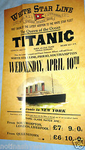 TITANIC-Poster-Disaster-New-York-City-Steamer-Travel-Sea-Liverpool-Belfast-Ship