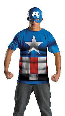 Captain America Adult Men Comic Book Alt No Scars Half Mask Disguise