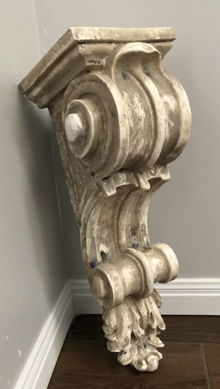 Large Old World Scroll Wall Corbel Bracket Architectural Accent Home Decor