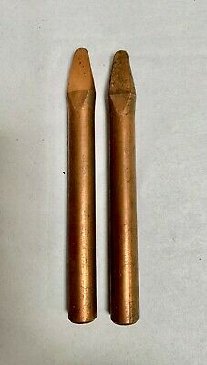 2 Vintage Unused Copper Solder Iron Replacement Tip 12 Dia. A4