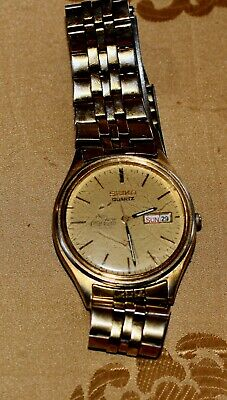 VTG RARE SEIKO COCA-COLA WITH DATE  MAN  QUARTZ WATCH , NEW BATTERY  RUNNING