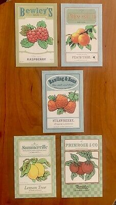 "Lot oF Vintage Look Produce Ad Postcards and ""Seed Packets"" Design Retro"