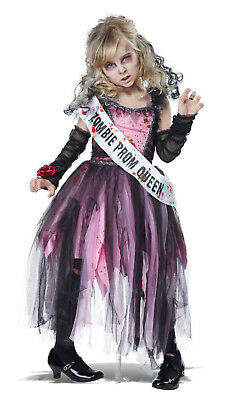 Prom Queen Girls Child Zombie Halloween Costume