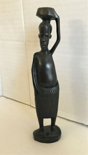 Vintage African Carved Ebony Figure ~ Makonde, Tanzania