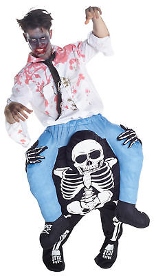 Skeleton Zombie Riding Piggyback Adult Costume Funny Halloween Morph - Funny Morph Suit