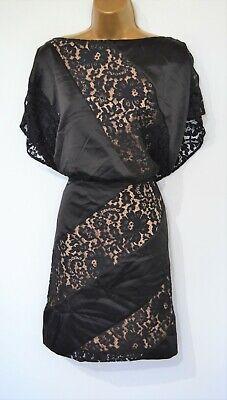 Jessica Simpson Dress Size 14 Black Lace Bow open back