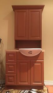 New bathroom cabinet set and extra sink