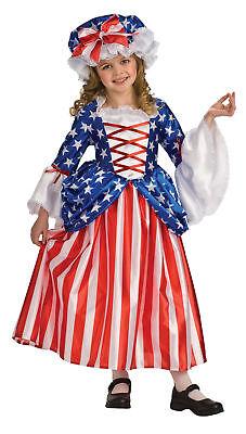�dchen Kostüm Petticoat & Kappe Halloween Kostüm Rubies (Betsy Ross Kostüme)