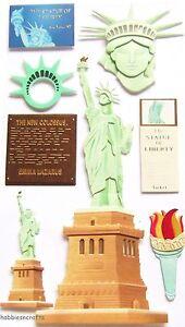 EK-SUCCESS-JOLEES-BOUTIQUE-3-D-STICKERS-AMERICA-USA-STATUE-OF-LIBERTY