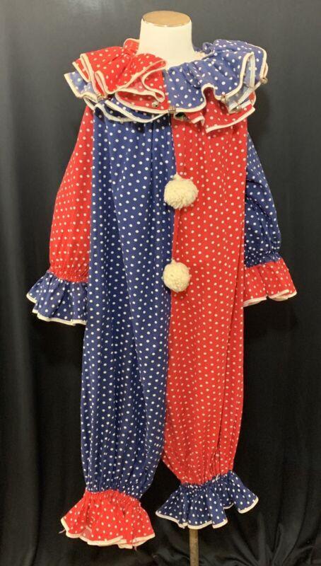 Vintage Mid Century Homemade Child Halloween Clown Costume
