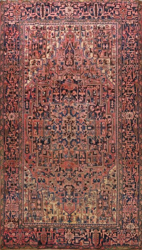 Geometric Vintage Traditional Area Rug Hand-Knotted Oriental Living Room 10x13