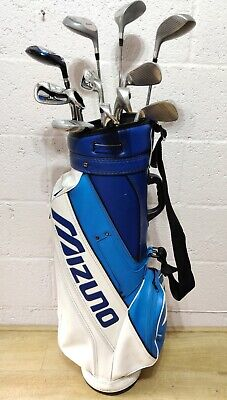 Mens Full Set Of Right Hand Mizuno & John Letters Golf Clubs Bag & Accessories